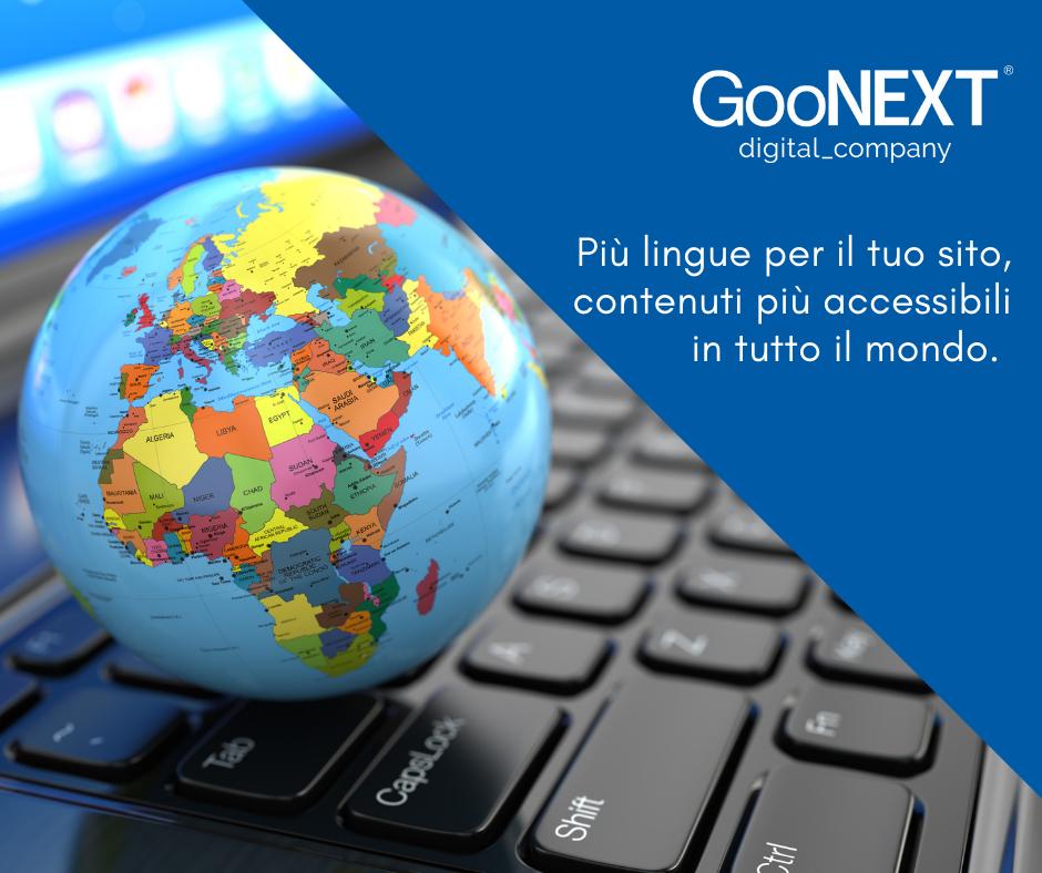 sito web multilingua GooNext